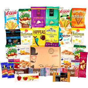 healthy snacks box care package gift back to school christmas finals exams dorm client colleague