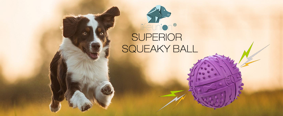 Lifeunion Durable Rubber Pet Dog Squeeze Ball Squeaky Chew Play Fetch Love  Toy for Small and Medium Dogs