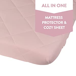 Amazon Com Waterproof Cotton Quilted Pack N Play Sheet