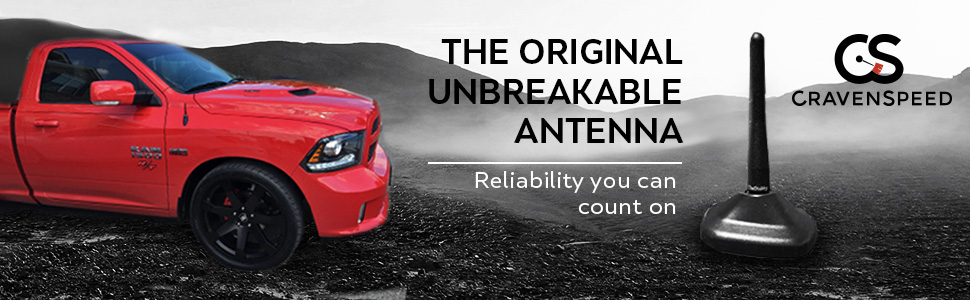 4 inches CravenSpeed Stubby Antenna Replacement for the Dodge Avenger 2007-2010