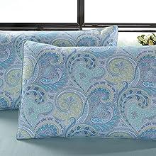 standard shams blue pillowcovers king