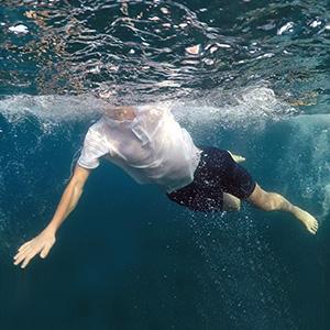 men sun protection swim shirt