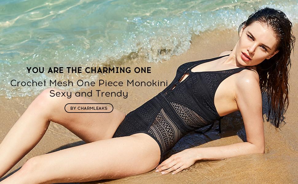 deb54c68df78c CharmLeaks Women's Mesh One Piece Swimsuit Backless Monokini Bathing ...