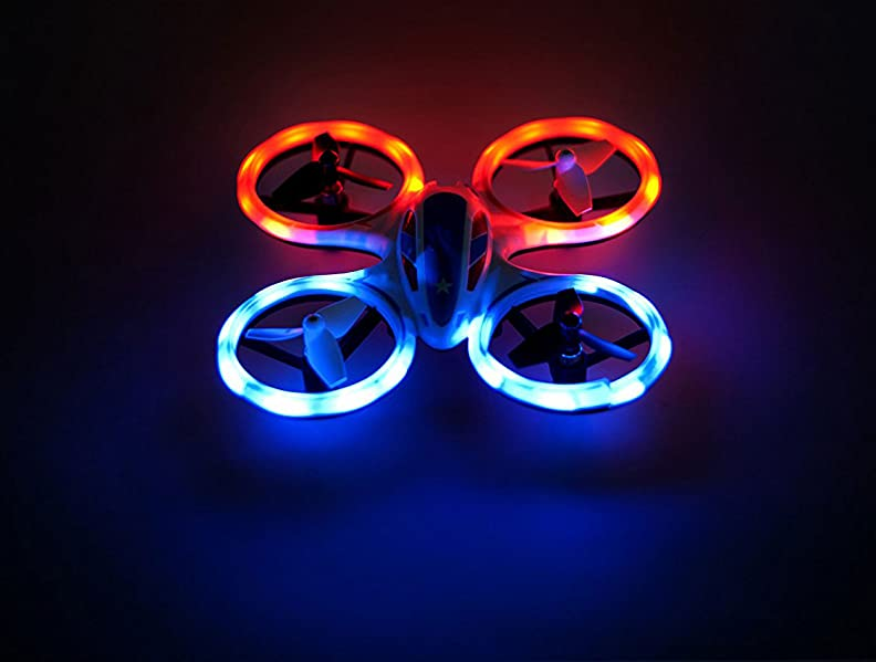 ... Is A Small And Portable Indoor Quadcopter That Is Equipped With LEDs  And Can Perform A 360 Degree Stunt Flip. It Comes In A Red, White, And Blue  ...