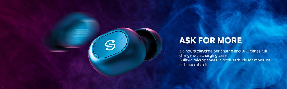 SoundPEATS Upgraded TrueFree+ True Wireless Earbuds 5 0 Bluetooth  Headphones in-Ear Stereo Wireless Earphones with Microphone Binaural Calls,  One-Step