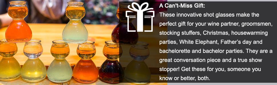 Quaffer shot glass party gifts