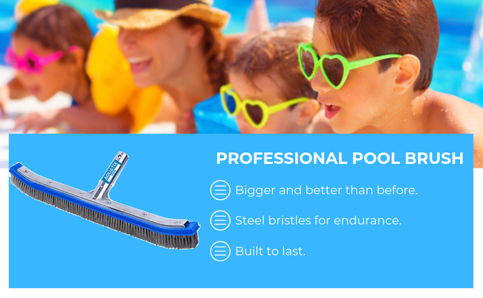 Heavy duty pool brush