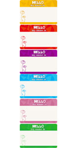 Amazon Com Name Tag Labels Hello My Name Is Perforation