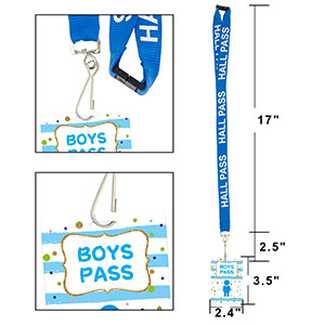Hall Pass Lanyards Confetti-Themed Lanyard and School Passes Set of 6 for School Classroom