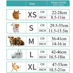 harnesses size