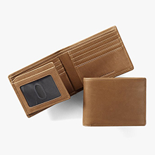 Leather Bifold Wallet with Flap