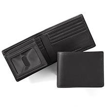 Men's Leather Bifold Wallet with Flap