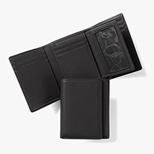 Leather Trifold Wallet with Card Case