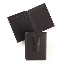 Men's Leather Money Clip Card Holder
