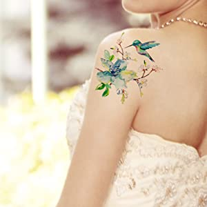 f9aab3295e692 Amazon.com : Supperb Temporary Tattoos - Spring flowers ...
