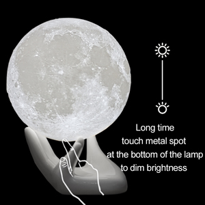 3d moon lamp with stand