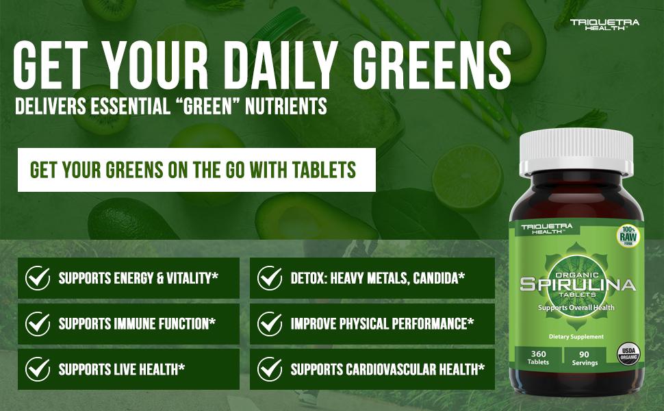 spirulina chlorella green superfood