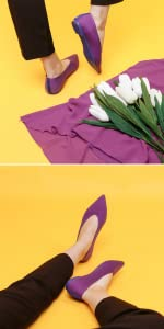 purple dasti flat shoes for women