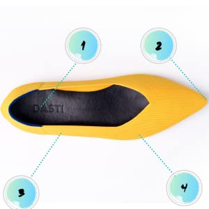 flat dasti shoes yellow summer