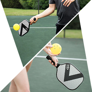 Pickleball Paddle for All Skill Levels: Best Performance Combo of Lightweight & Pro Spin with Ultra Cushion Grip. Comes with Edge Guard & Protective ...