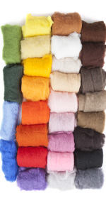 Bubblegum Carded Wool Batts Cornflower Collection Six 3 Colors Forest 1 Ounce Each 100/% Pure Wool Maori Wool by DHG for Needle Felting