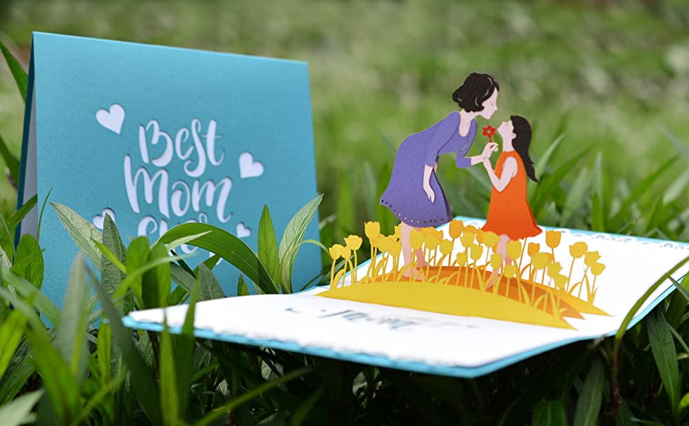 Best Mom Ever Pop Up Card (Daughter and Mom)