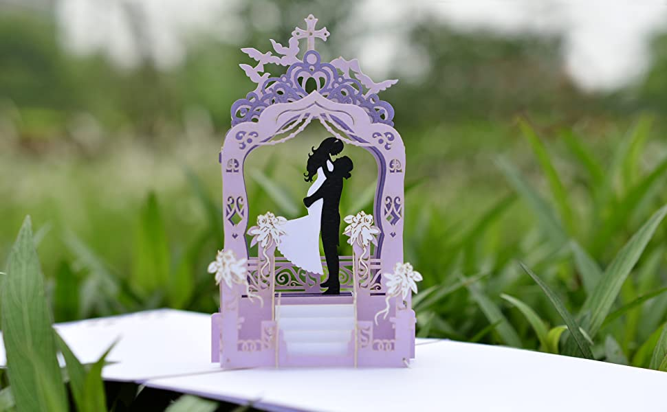 Bride & Groom Pop Up Card