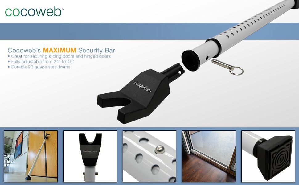 Cocoweb PortBlock Dual-Function Door Security Bar ...