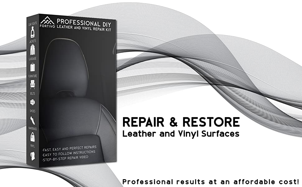Leather and Vinyl Repair Kit - Furniture, Couch, Car Seats, Sofa, Jacket,  Purse, Belt, Shoes | Genuine, Italian, Bonded, Bycast, PU, Pleather |No  Heat