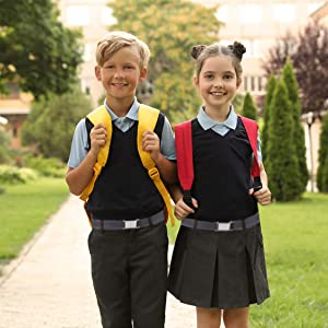 boy infant toddler school uniform kids boys girls silver square buckle belts for all ages easy open