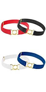gold modern clasp buckle belt for kids no show easy to buckle and unbuckle infant boy kids toddler