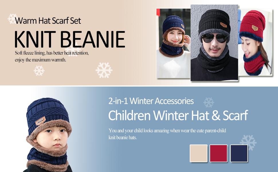 1a7d6780ade Amazon.com  AYAMAYA Winter Hats for Adults Kids