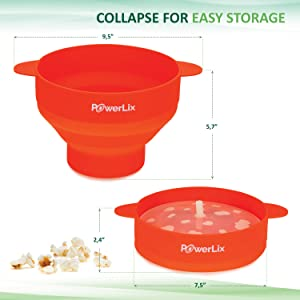 because space is so valuable your powerlix popcorn popper collapses for easy and convenient storage this makes this popcorn popper great for college dorm - Popcorn Poppers