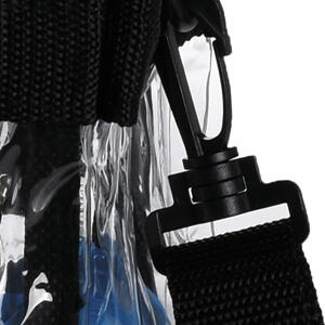 carry handles shoulder strap clear tote bag