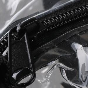 zipper pocket clear tote bag