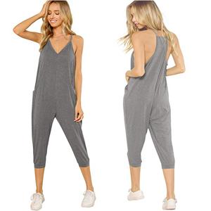 46abff47b07e Striped Side Jumpsuits · Halter V Neck Harem Leg Oversized Jumpsuits · Knot  Shoulder Pocket Back Jumpsuit · Spaghetti Strap Flare Wide Leg Cami Jumpsuit  ...