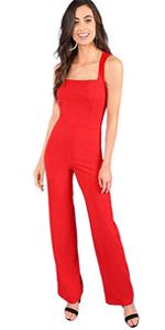 c600323c39 Loose Tie Shoulder Pocket Back Plain Cami Jumpsuits · Striped Side  Sleeveless Wide Leg Jumpsuit Romper · Casual Loose Strap Wide Leg Cami  Jumpsuits with ...