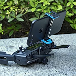 Freewell Remote Control Phone Mount (Fit Smartphone Size Same as iPhone 8+  12 5mm Thick Including case) Compatible with DJI Mavic 2 Zoom, Mavic 2 Pro,