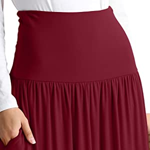 4695bf44bf Womens Long Maxi Skirt with Pockets Reg and Plus Size - Made in The ...