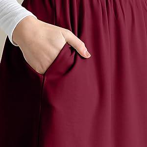 knee length plus size womens skirt