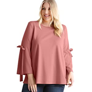 4f88dc384251c1 loose top for women plus size long sleeve. plus size flowy tops ...