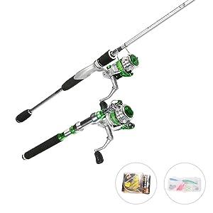 Carbon Telescopic Travel Fishing Rod Combo