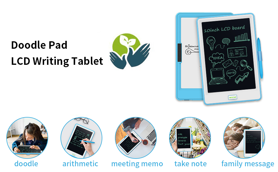 Supports One-Click Clear /& Local Erase,for Writing Pad /& Memo Board Kids Use 10.5-inch LCD Writing Tablet Color : Black Drawing Sketchpad