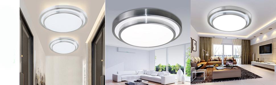 Amazon.com: afsemos LED de 12 W Flush Mount luz de techo ...