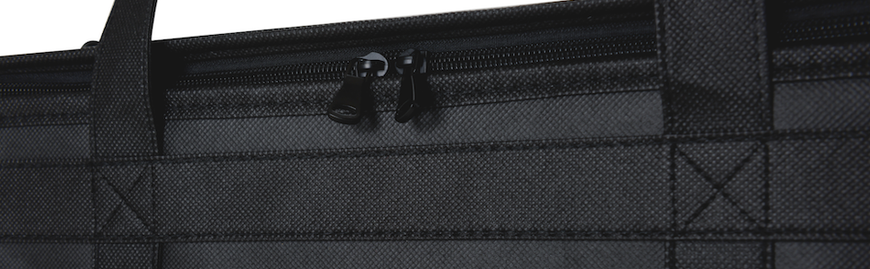 Reinforced handles dual zipper