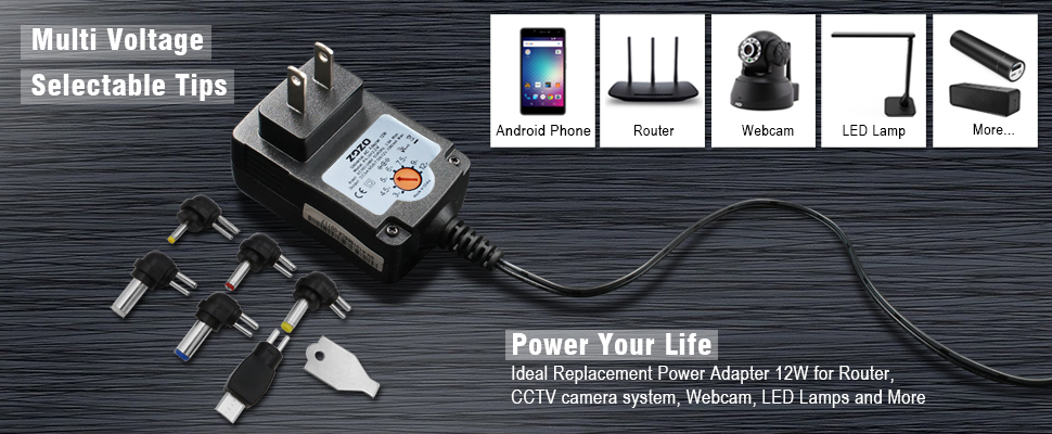 Regulated Multi Voltage Switching Replacement Power AC Adapter for ...