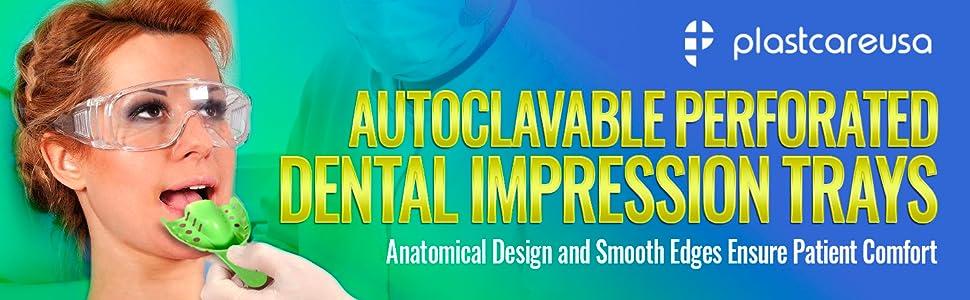 plastcare autoclavable perforated dental impression trays