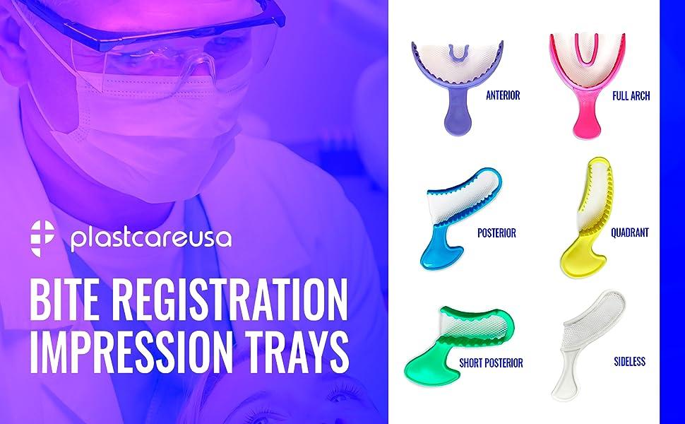 plastcare bite impression registration trays 6 styles