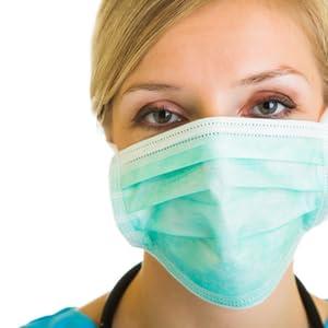 level 3 blue procedure surgical dental medical face mask