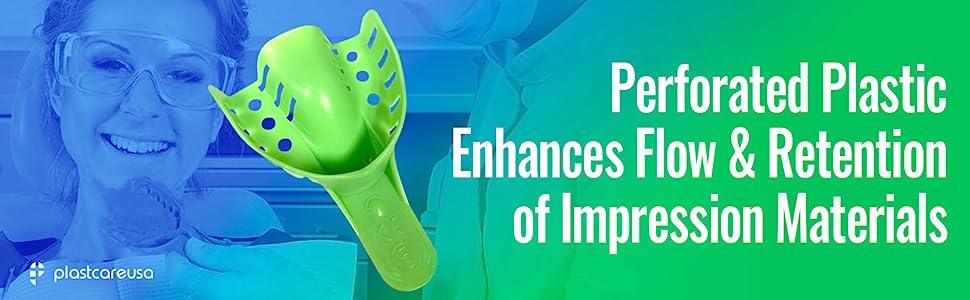 plastcare perforated impression trays retention materials